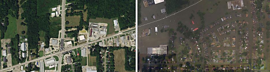 Flood Damage Swipe Map