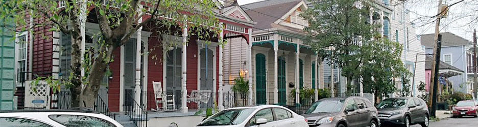Faubourg Marigny Scene in New Orleans