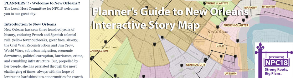 Story Map: Planners' Guide to New Orleans