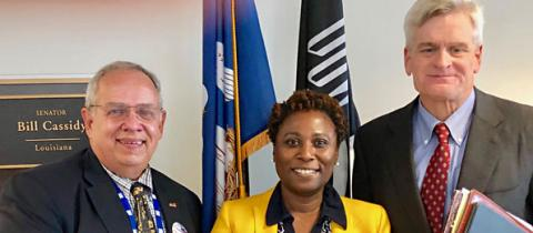 Stephen Villavaso, Jessica Knox, Sen. Bill Cassidy
