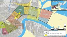 Map depicting the extent of the Livable Claiborne Corridor in New Orleans