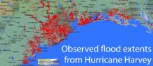 Map of Hurricane Harvey flood extent