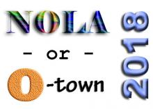 NOLA or O-town in 2018 graphic