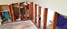 Abatement of flood-damaged drywall.