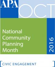 logo of National Community Planning Month - October 2016