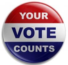 Your Vote Counts badge