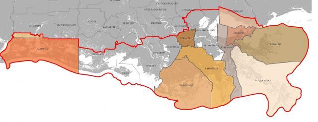 map of Local Coastal Management Program Areas