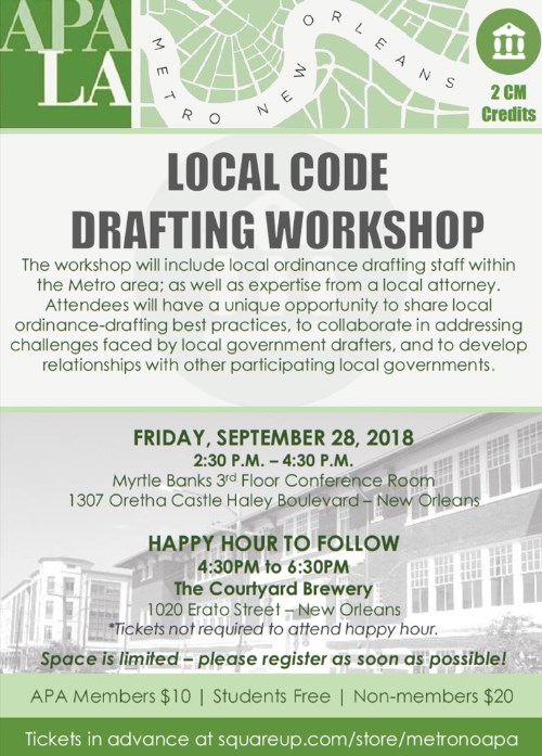 Code Drafting Workshop flyer