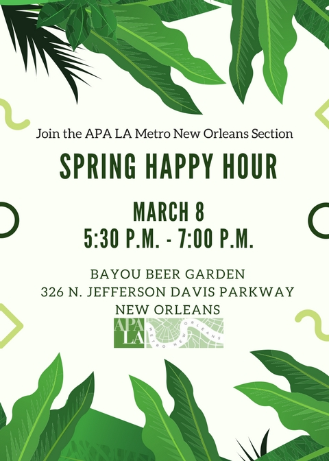 March 8 2018 Happy Hour flyer